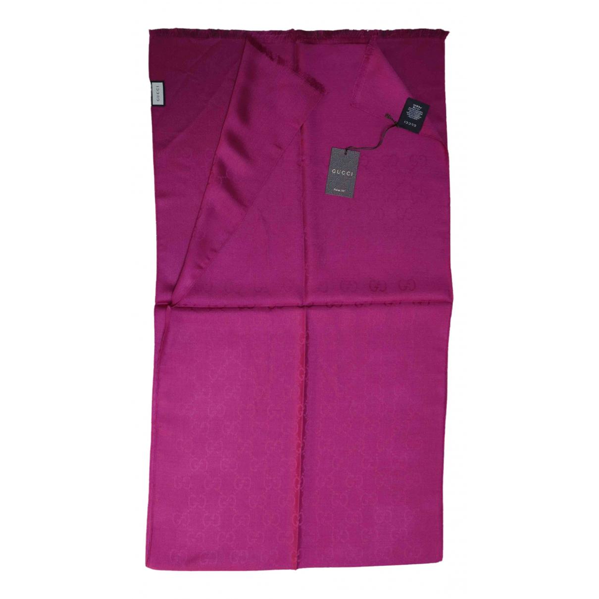 Gucci - Foulard   pour femme en laine - violet