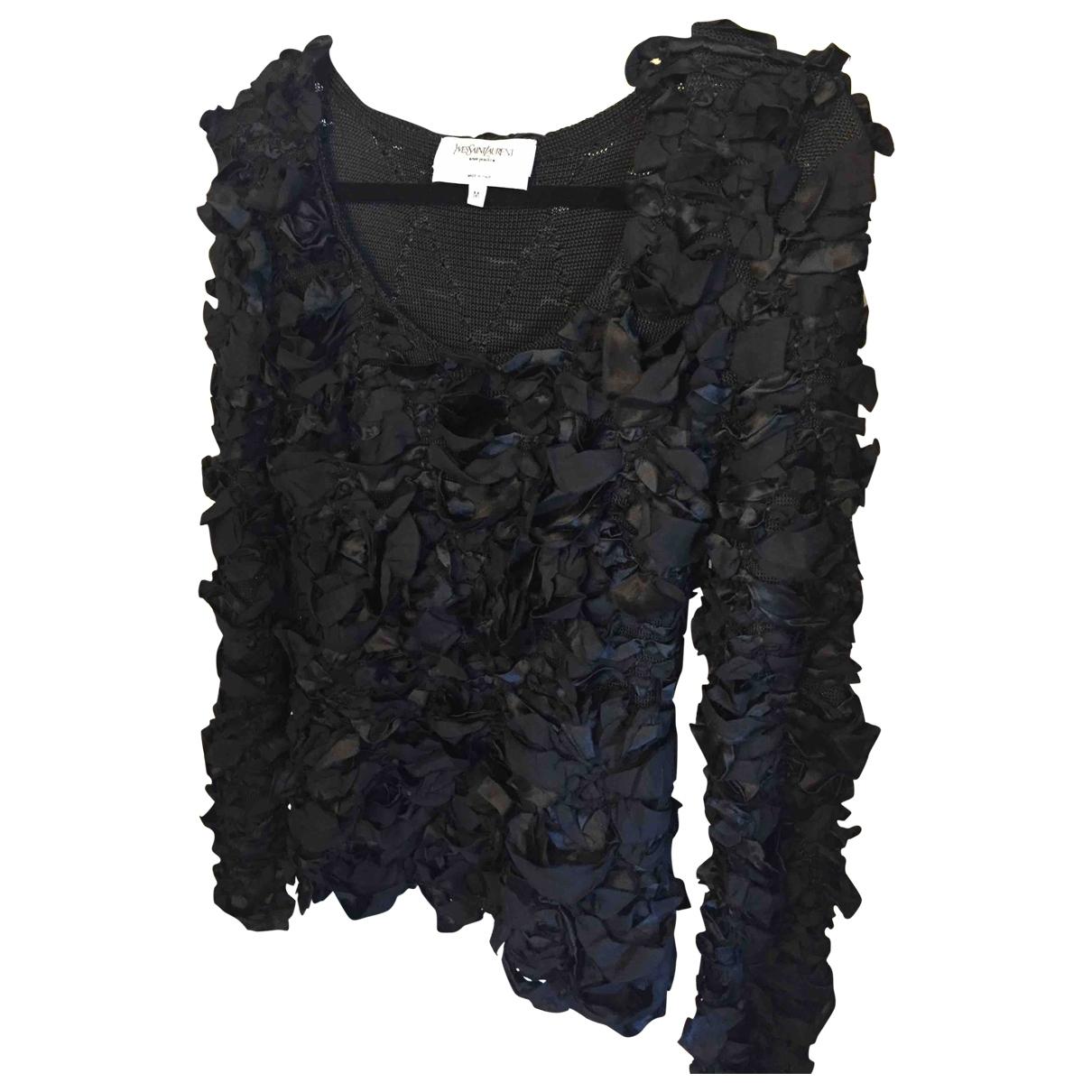 Yves Saint Laurent \N Pullover in  Schwarz Seide