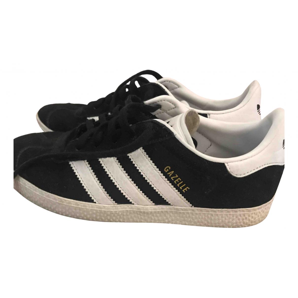 Adidas Gazelle Black Leather Trainers for Women 35 EU