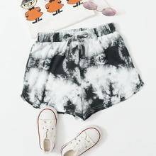 Delphin Shorts mit Schleife Detail und Batik