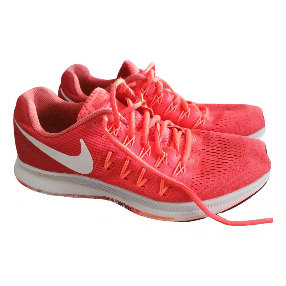 Nike - Baskets Air Zoom Pegasus pour femme en toile - rouge