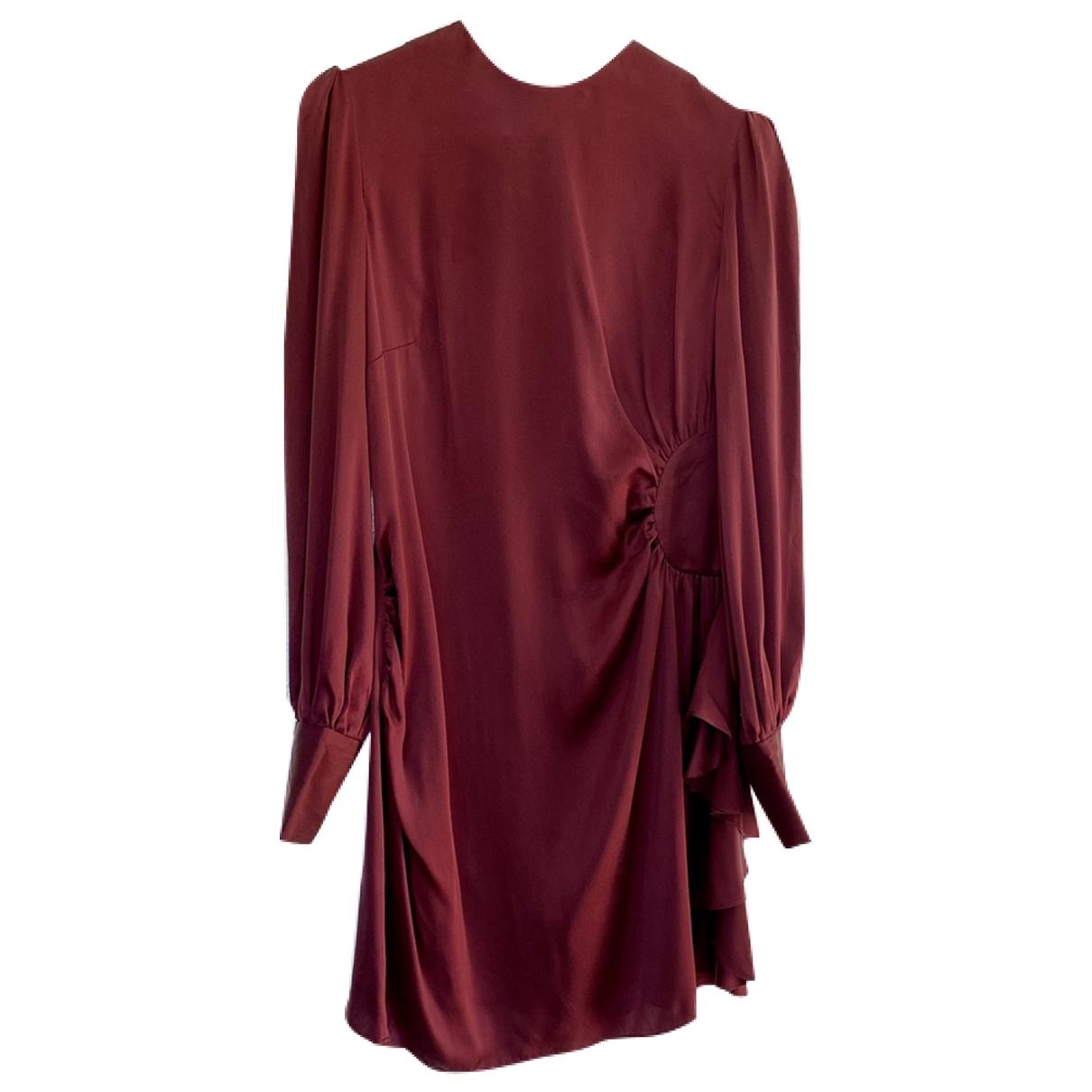 Zimmermann \N Kleid in  Bordeauxrot Seide