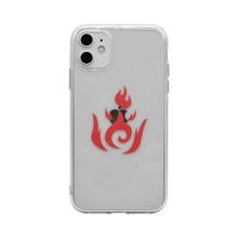 Fire Print Transparent iPhone Case