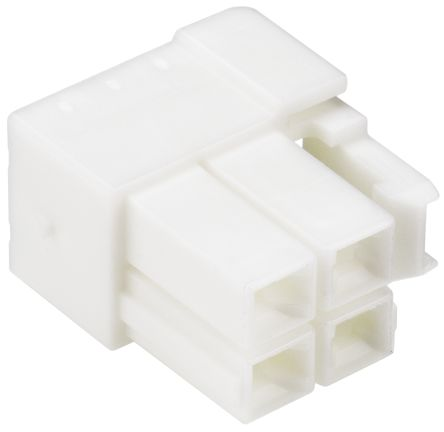 JST , VL Male Connector Housing, 6.2mm Pitch, 4 Way, 2 Row (10)