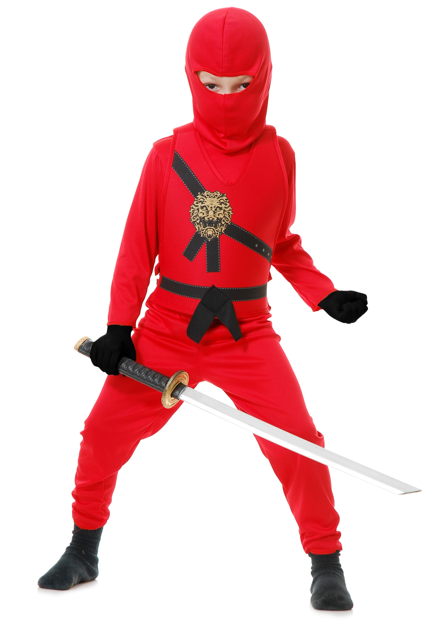 Boys Red Ninja Master Warrior Costume | Ninja Warrior Costume