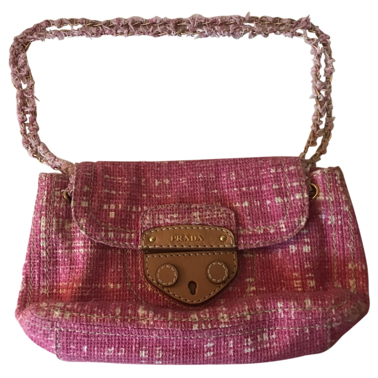 Prada \N Pink Tweed handbag for Women \N
