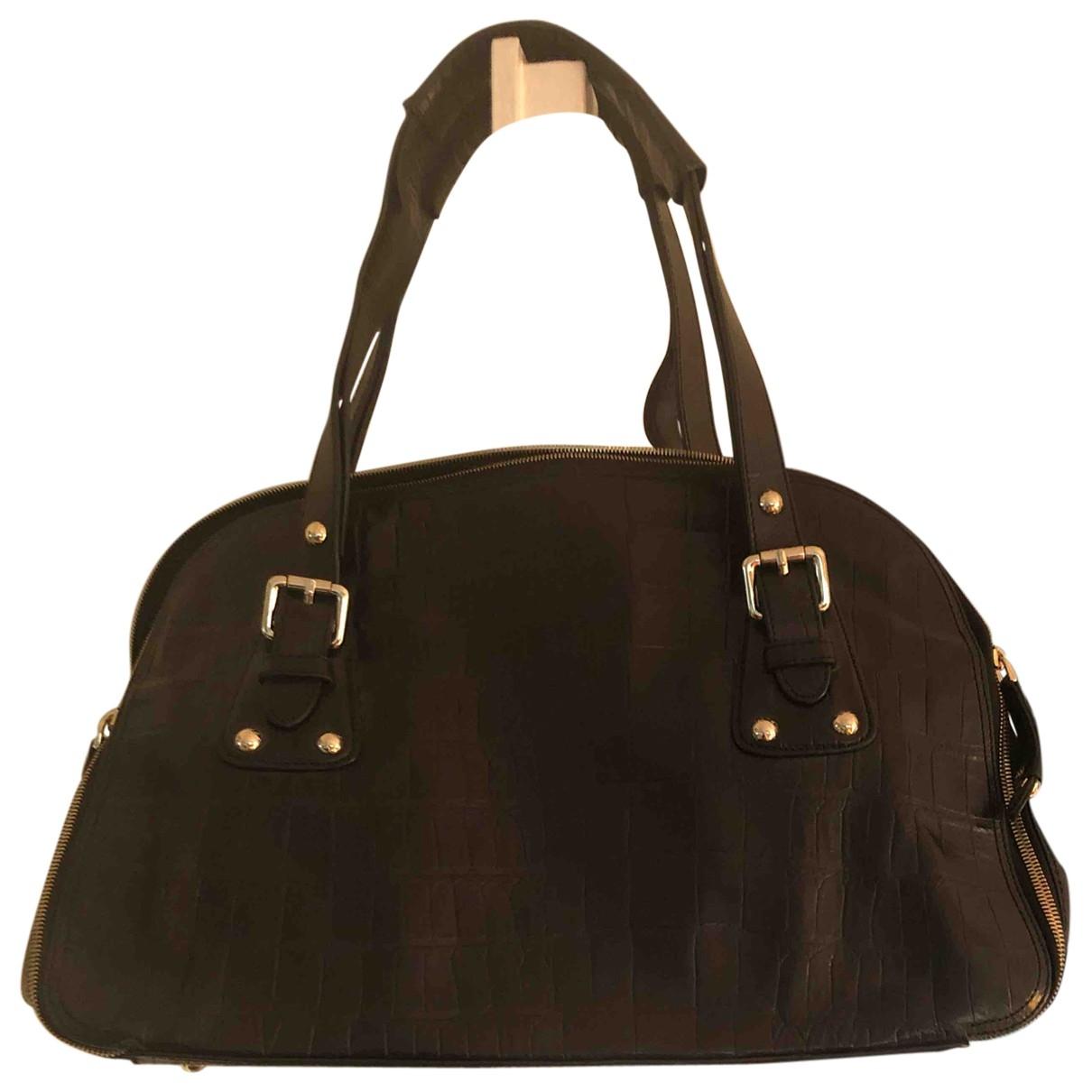 Zara \N Handtasche in  Schwarz Leder
