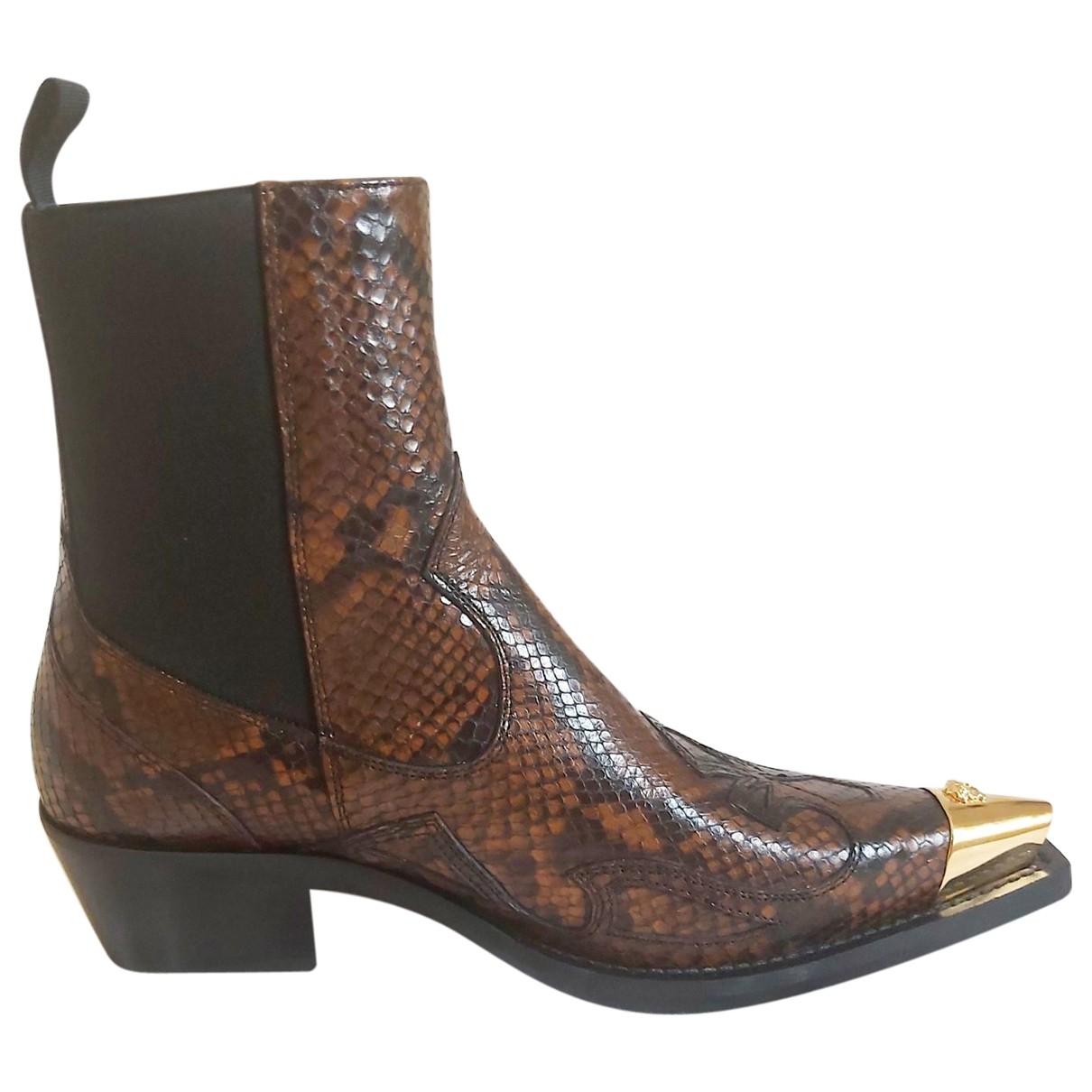 Botas de Charol Gianni Versace