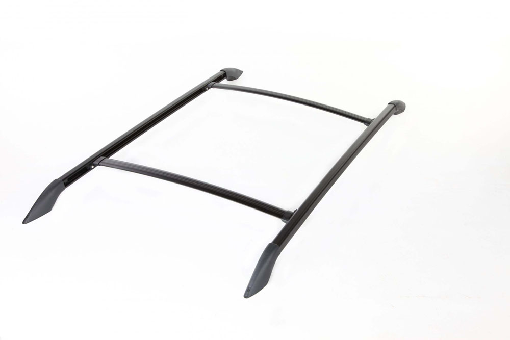 Roof Rack Complete Ready To Install 110 Lb Capacity Kit Black 42 Inch W x 58 Inch Long Aventura Perrycraft AV4258-B
