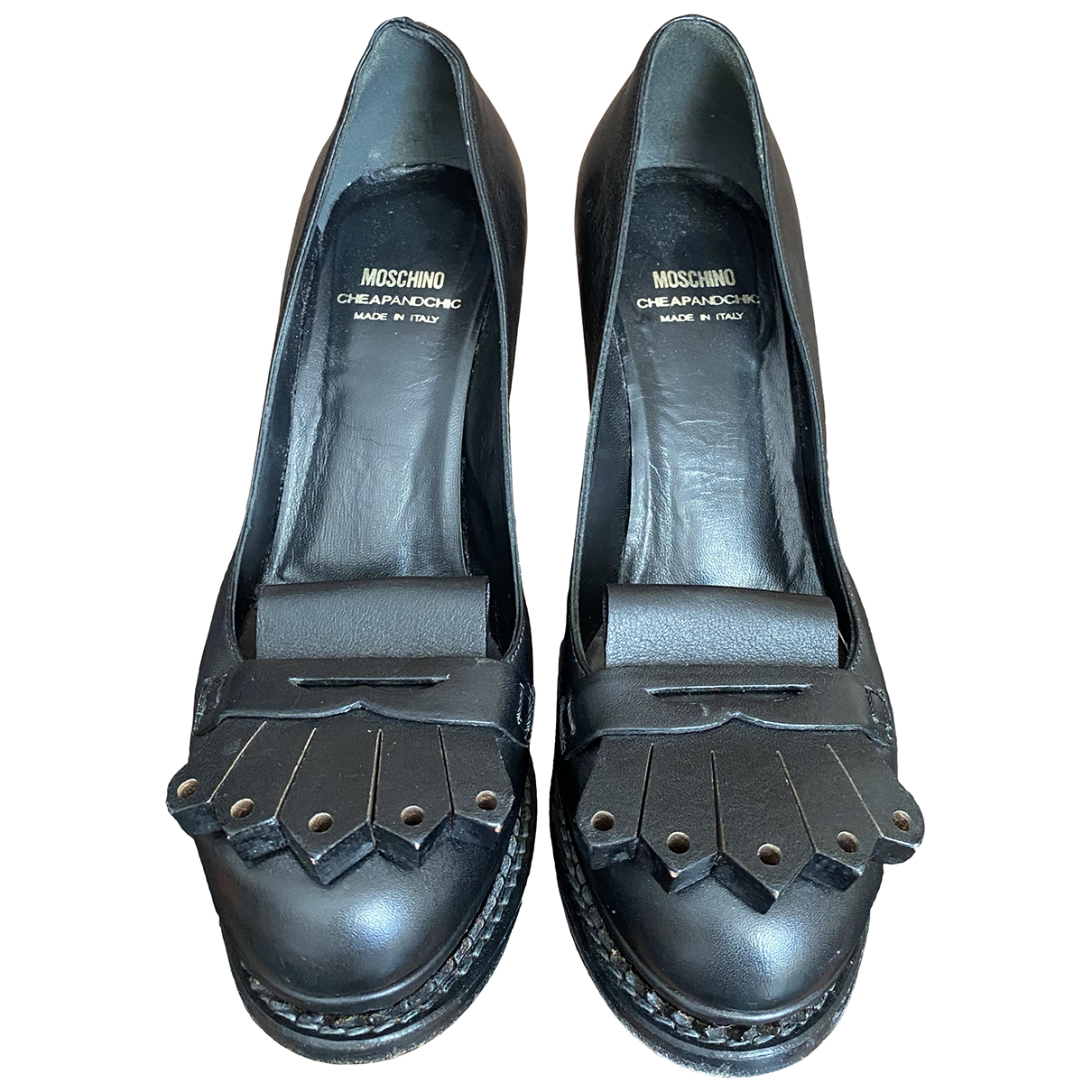 Moschino Cheap And Chic \N Pumps in  Schwarz Leder