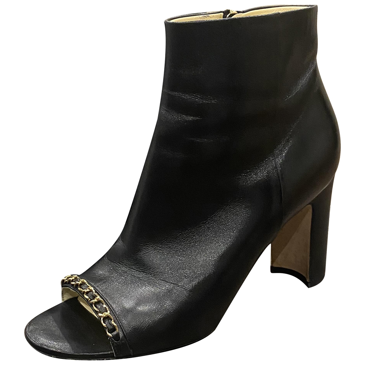 Chanel \N Black Leather Ankle boots for Women 40 EU