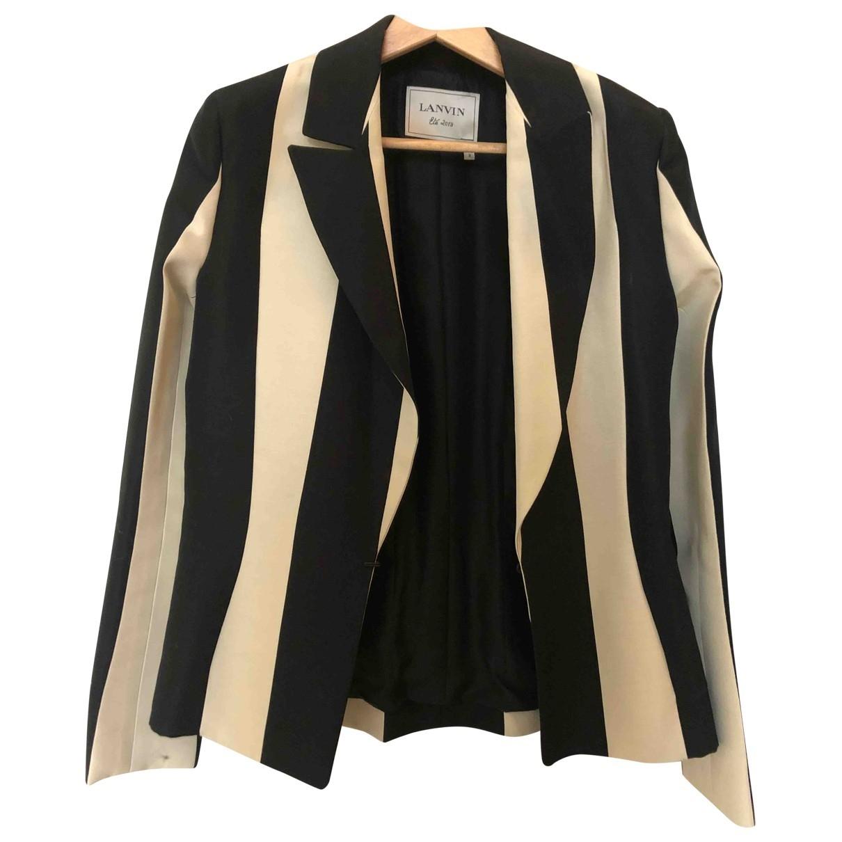 Lanvin - Veste   pour femme en coton - noir