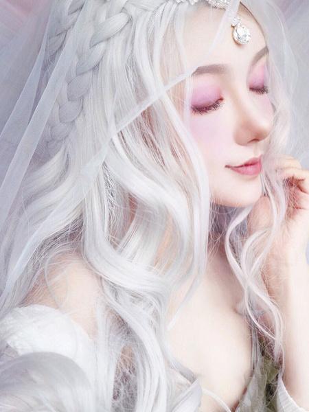 Milanoo Lolita Peluca Larga fibra resistente al calor Lolita Pelucas de cabello