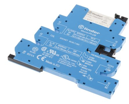 Finder , 60V ac/dc Coil Interface Module SPDT, 6A Switching Current DIN Rail Single Pole
