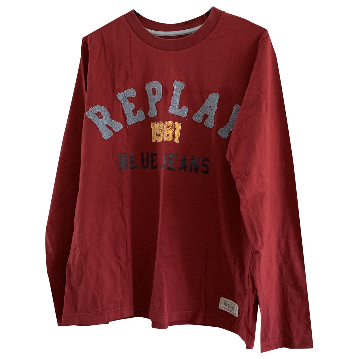 Replay - Tee shirts   pour homme en coton - rouge