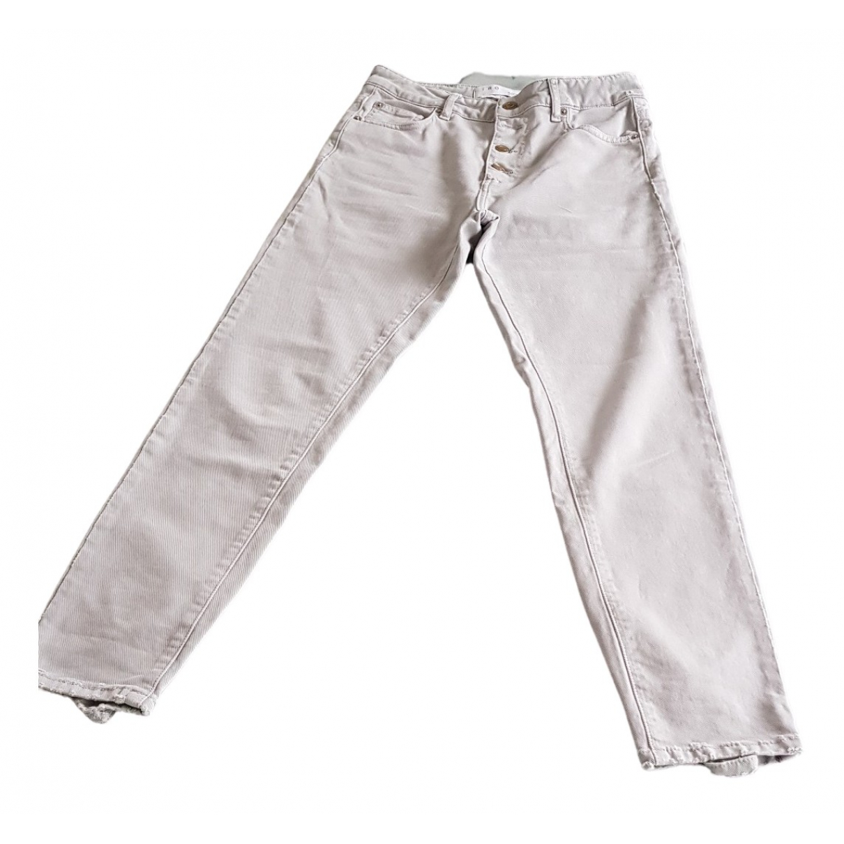 Iro \N Grey Cotton Jeans for Women 36 FR