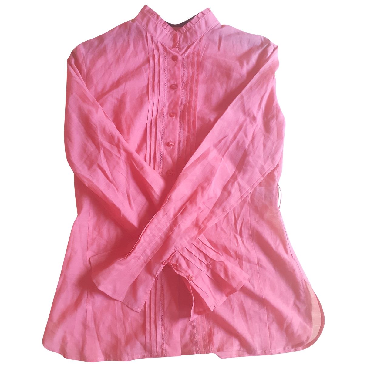 Non Signé / Unsigned \N Red Cotton  top for Women 36 FR