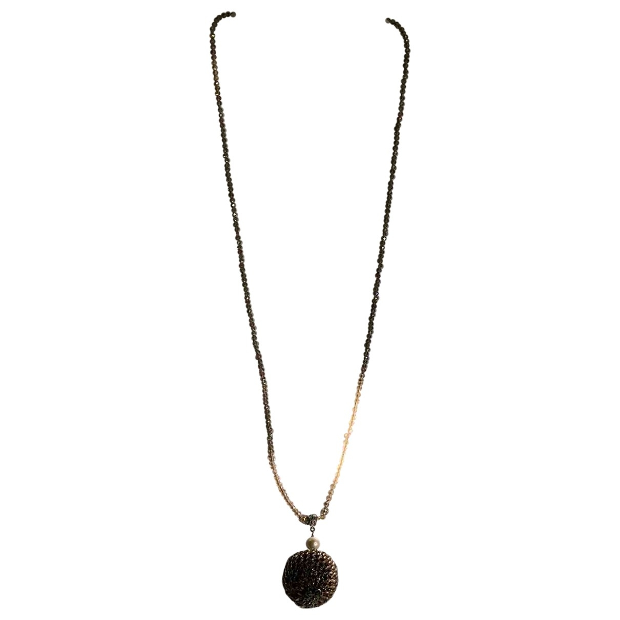 Non Signé / Unsigned \N Red Metal Long necklace for Women \N