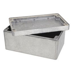 Deltron Unpainted Die Cast Aluminium Enclosure, IP66, IP67, 160 x 160 x 90mm