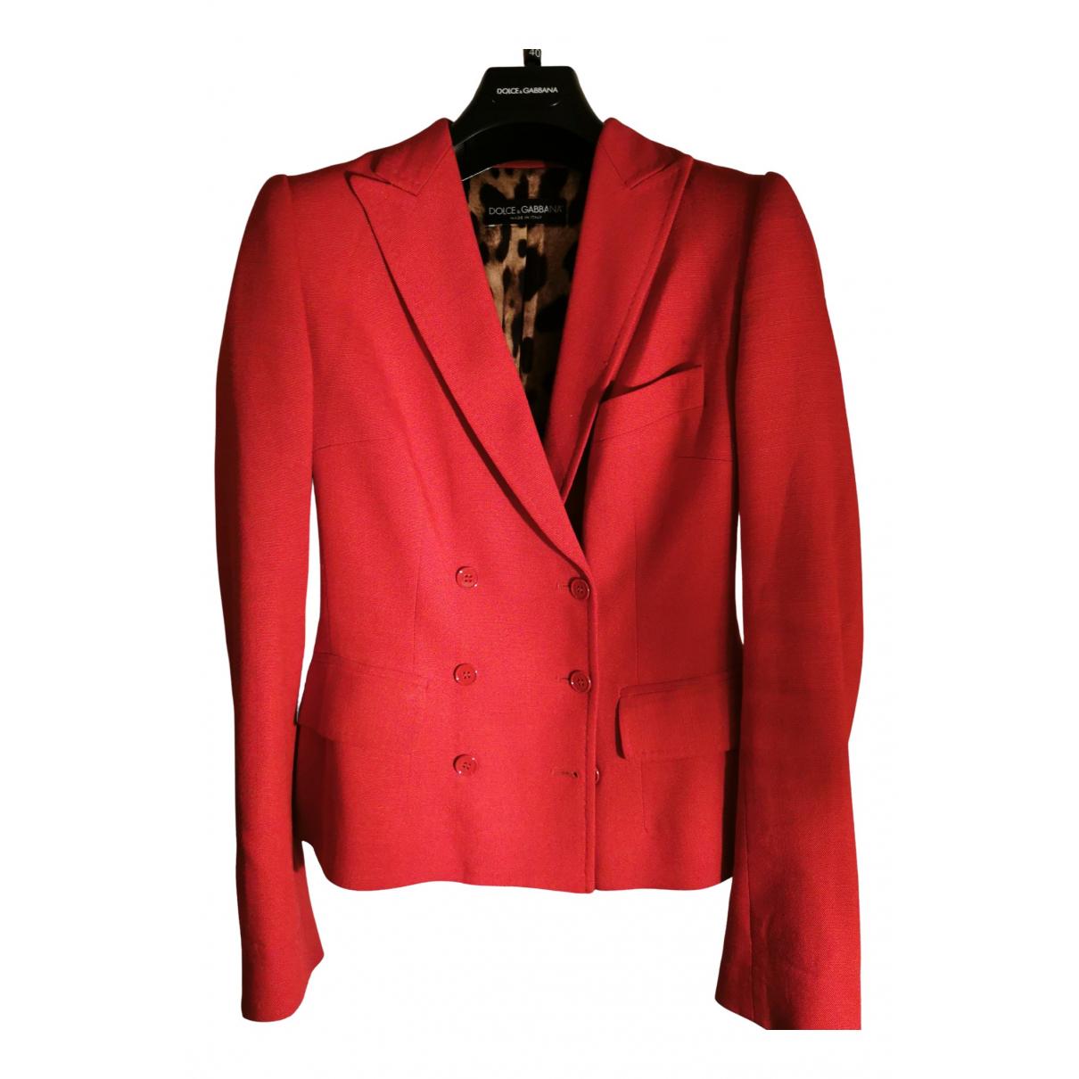 Dolce & Gabbana \N Jacke in  Rot Leinen