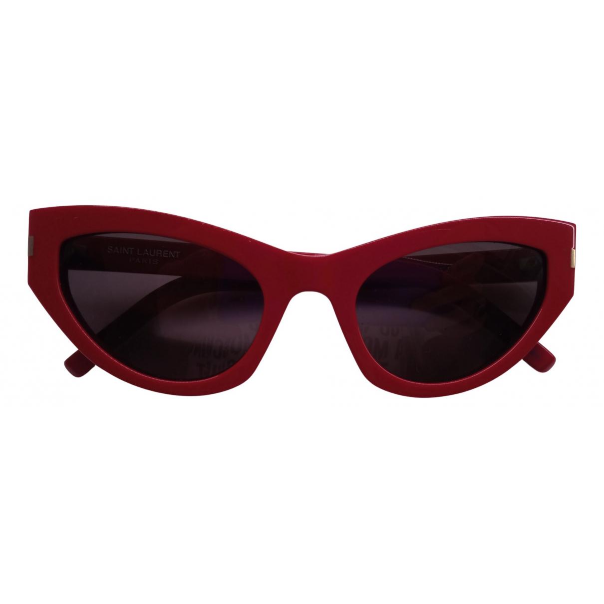 Saint Laurent - Lunettes   pour femme - rouge