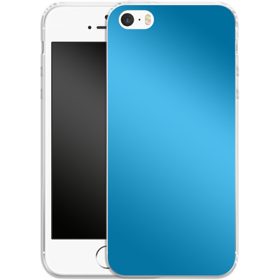 Apple iPhone 5s Silikon Handyhuelle - Test Cyan von caseable Designs