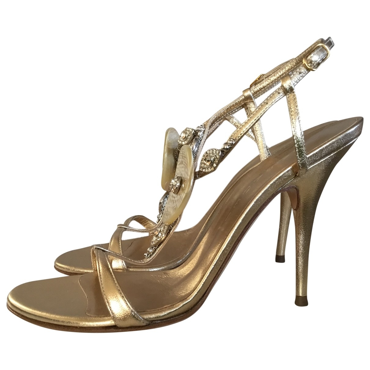 Casadei \N Gold Leather Heels for Women 7.5 US