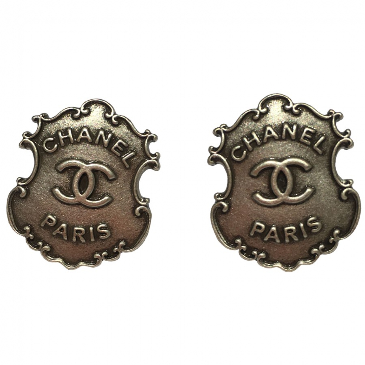 Chanel CC OhrRing in Metall