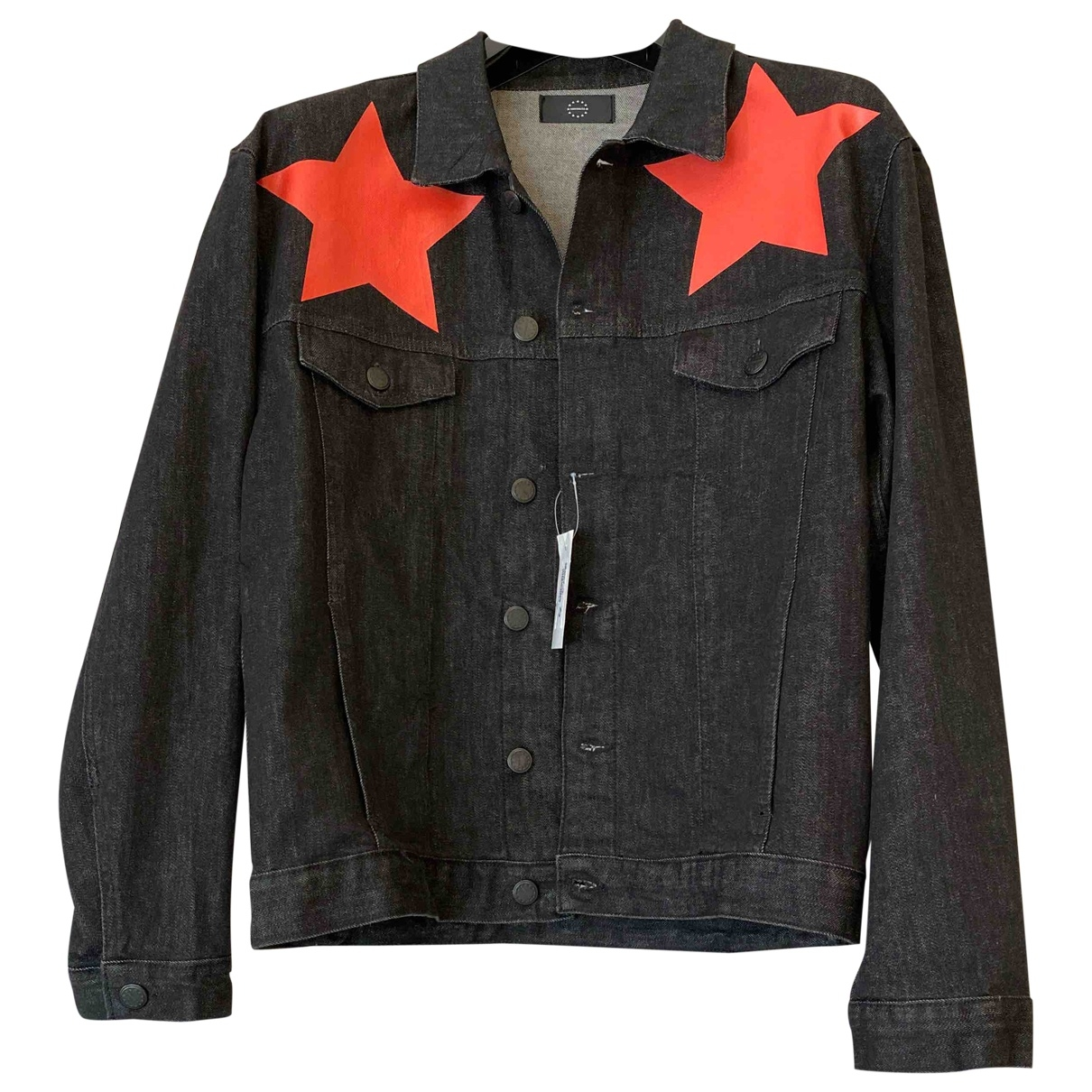 Non Signé / Unsigned Oversize Black Cotton jacket  for Men S International