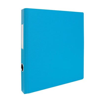 Geo 2'' D-Rings Binder with Hole and Label Holder - 8 Colours Available - Light Blue 239095