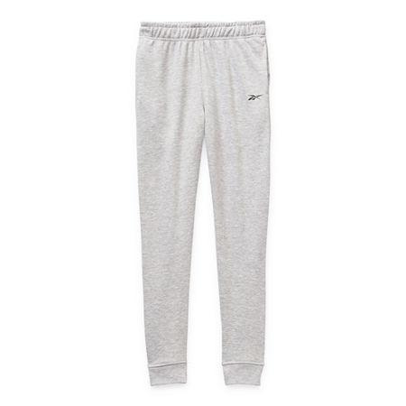 Reebok Boys Cuffed Sweatpant, Large (14-16) , White