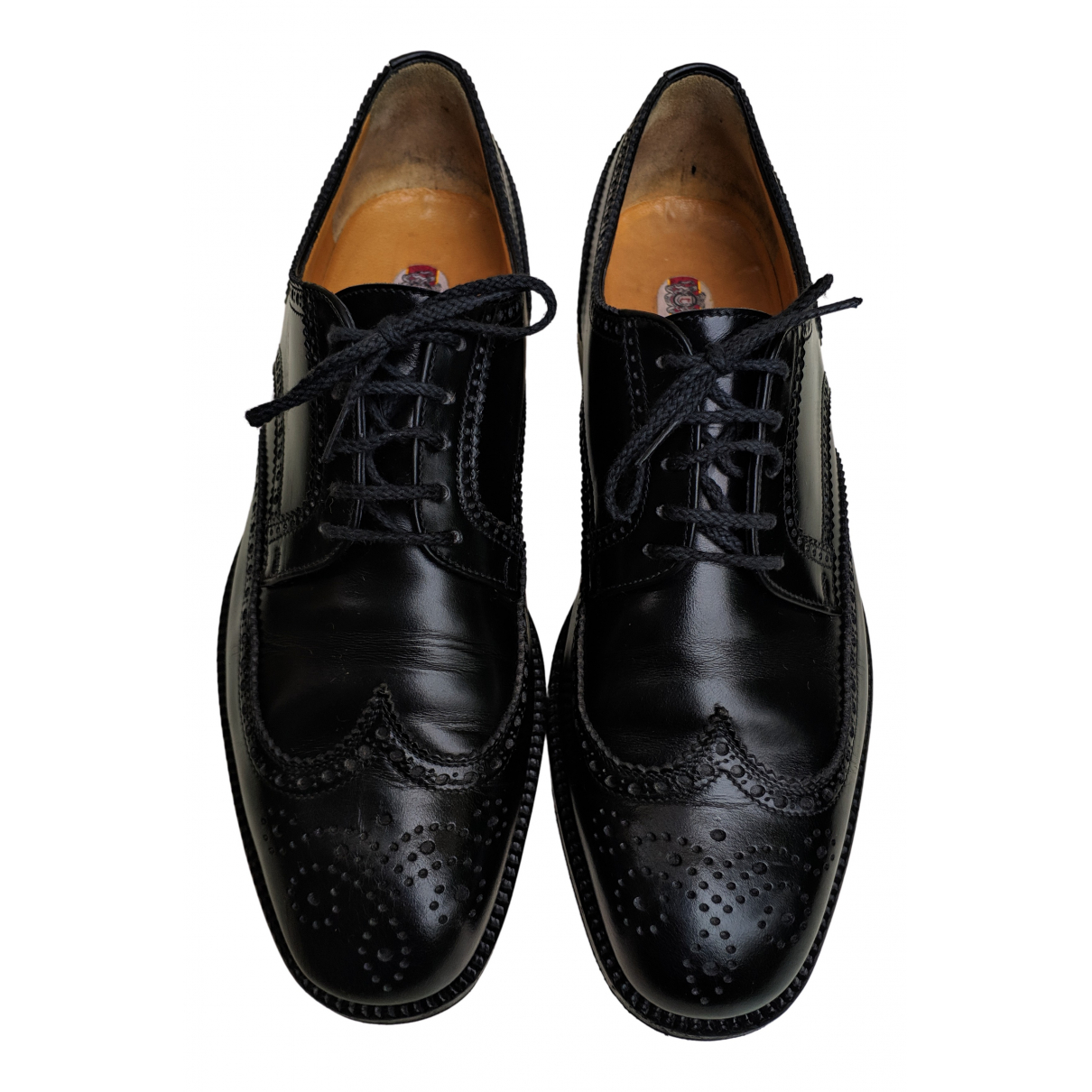 Non Signé / Unsigned N Brown Leather Lace ups for Men 8 UK