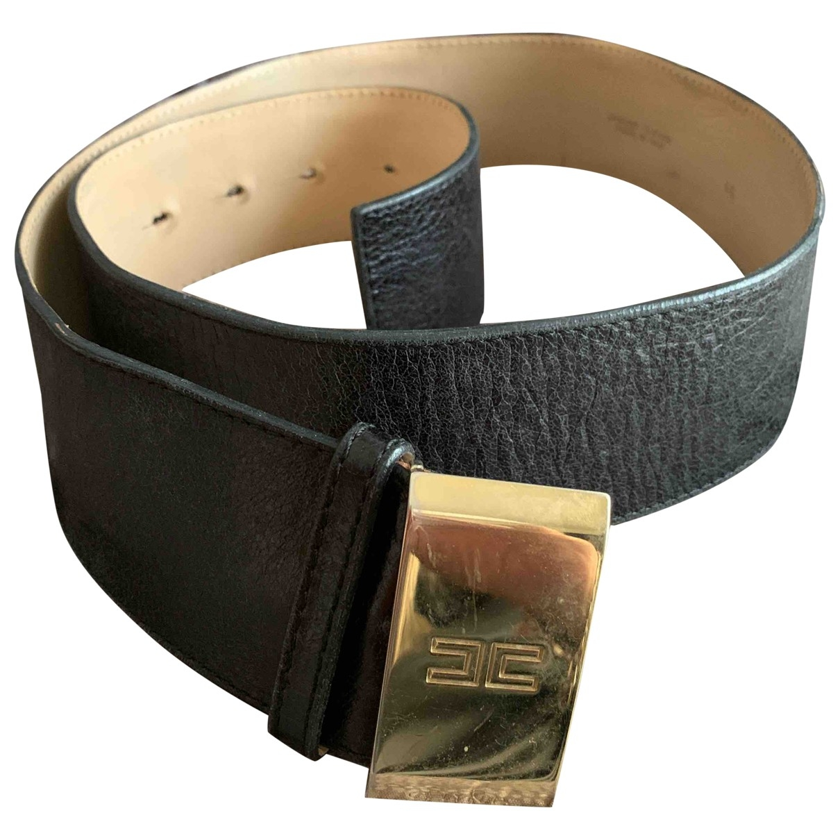 Non Signé / Unsigned \N Black Leather belt for Women L International