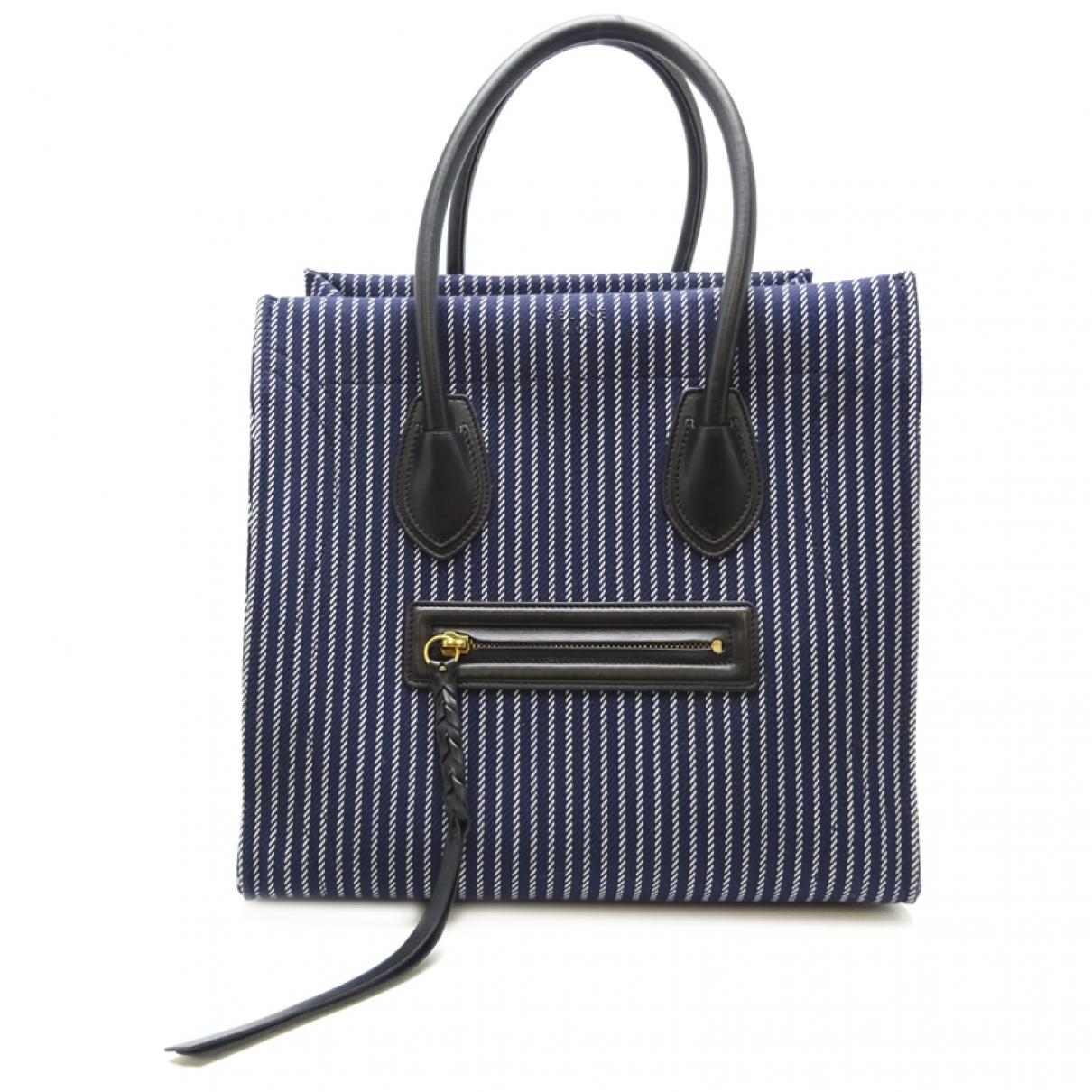 Celine Luggage Phantom Navy Cloth handbag for Women \N