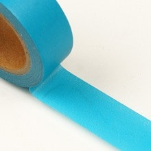 Turquoise Standard Solid Washi Tape - 9/16 X 10 Yards - Shipping Supplies by Paper Mart