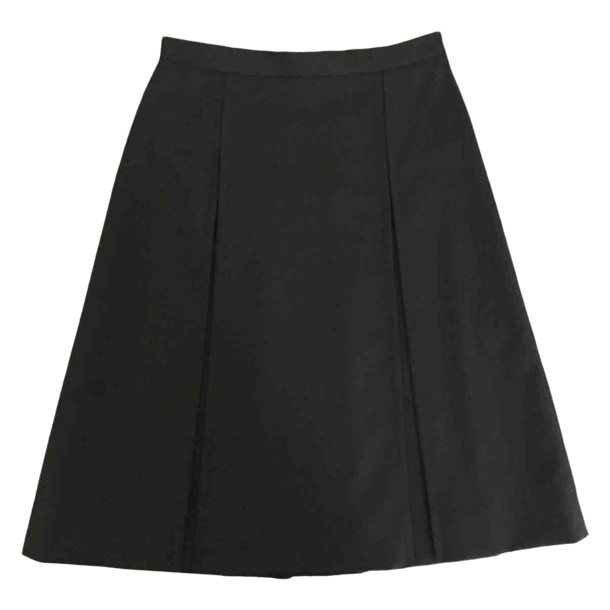 Celine \N Black Wool skirt for Women 34 FR