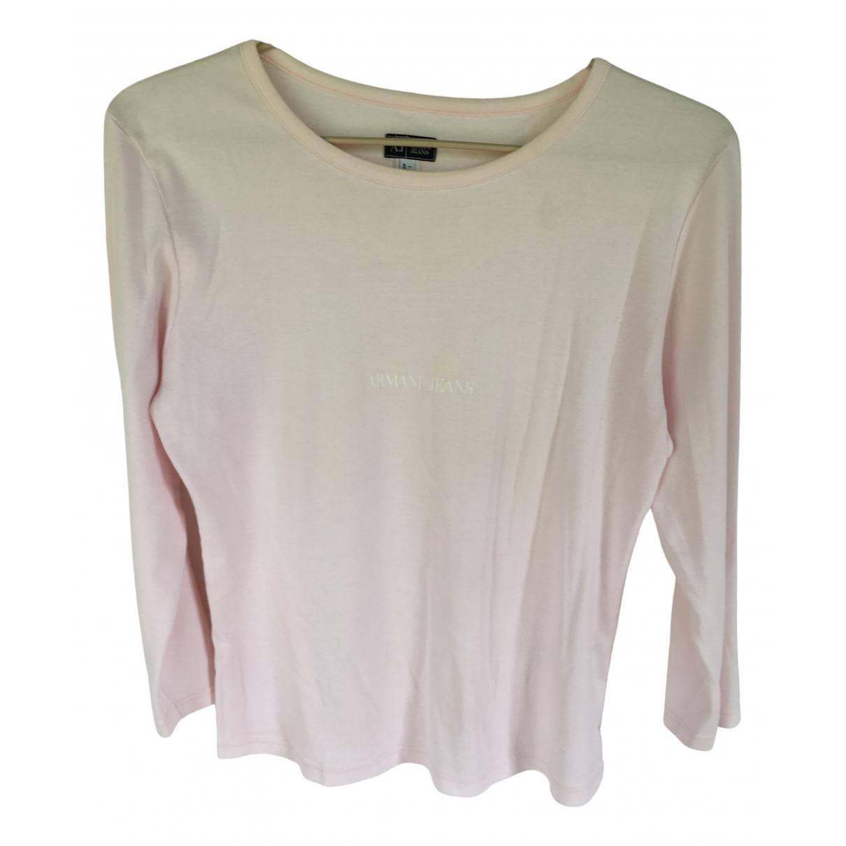Armani Jean - Top   pour femme en coton - rose