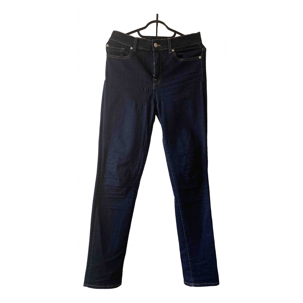 7 For All Mankind \N Navy Denim - Jeans Jeans for Women 29 US