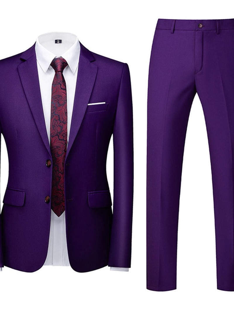 Ericdress Single-Breasted Plain Formal Dress Suit