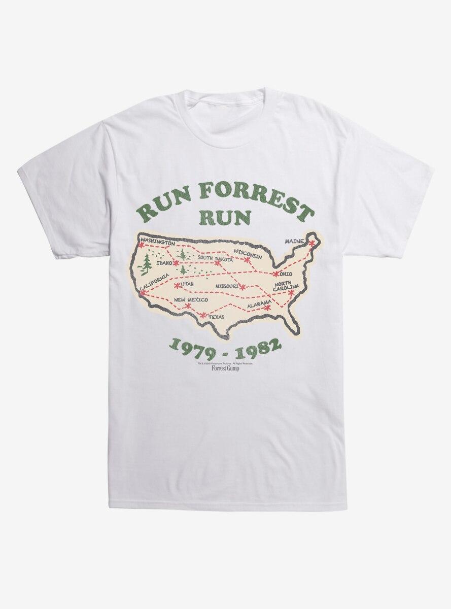 Forrest Gump Run Map T-Shirt