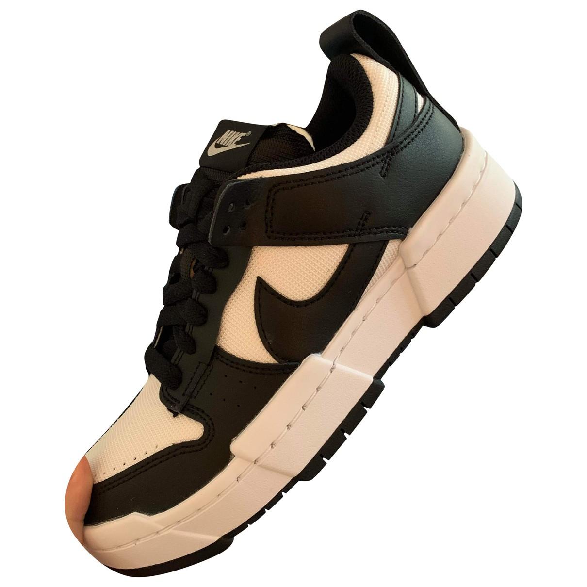 Nike - Baskets   pour femme en cuir - noir