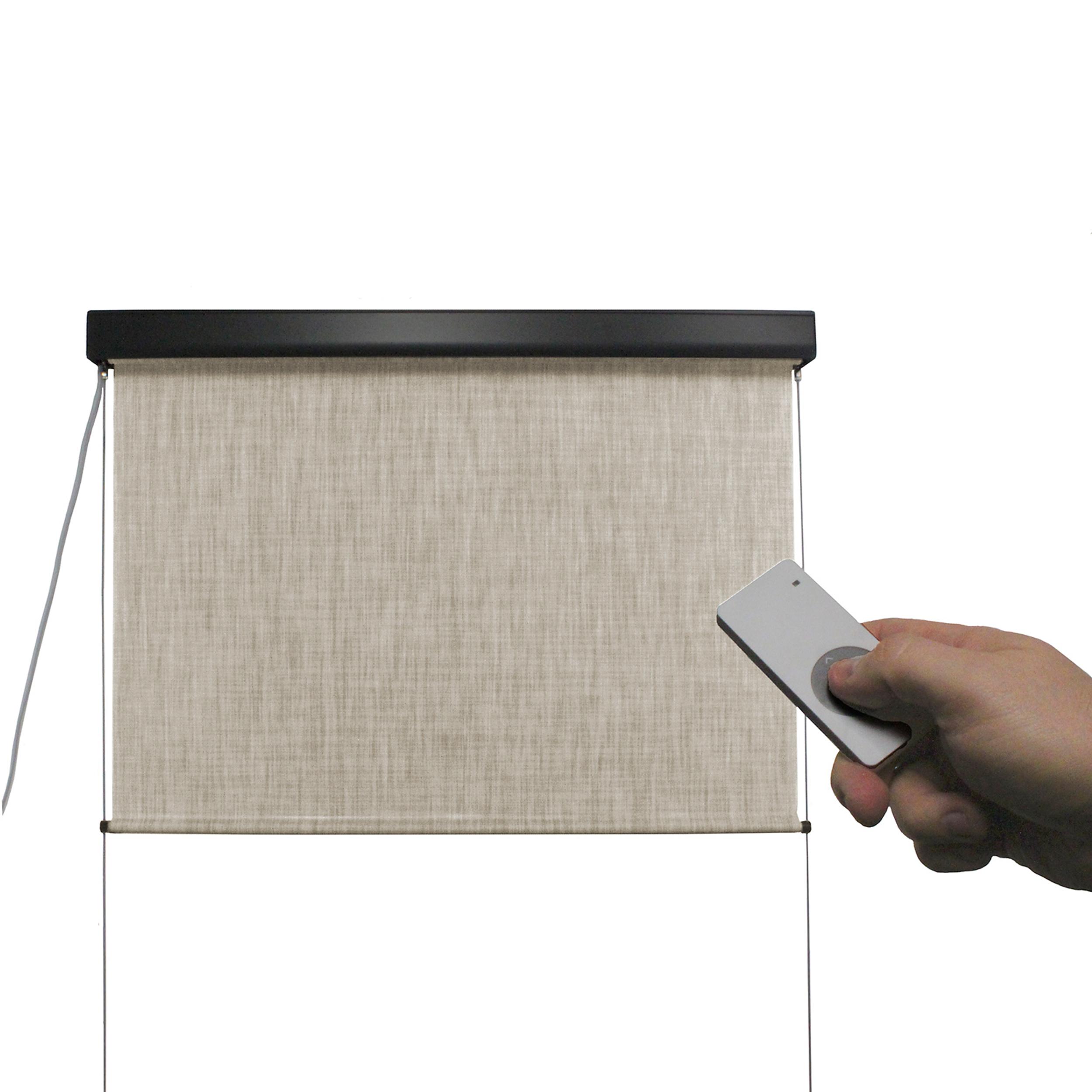Valanced Sunshade, Elite Plus, Remote Control, 8' W x 8' Drop, Caribbean Fabric