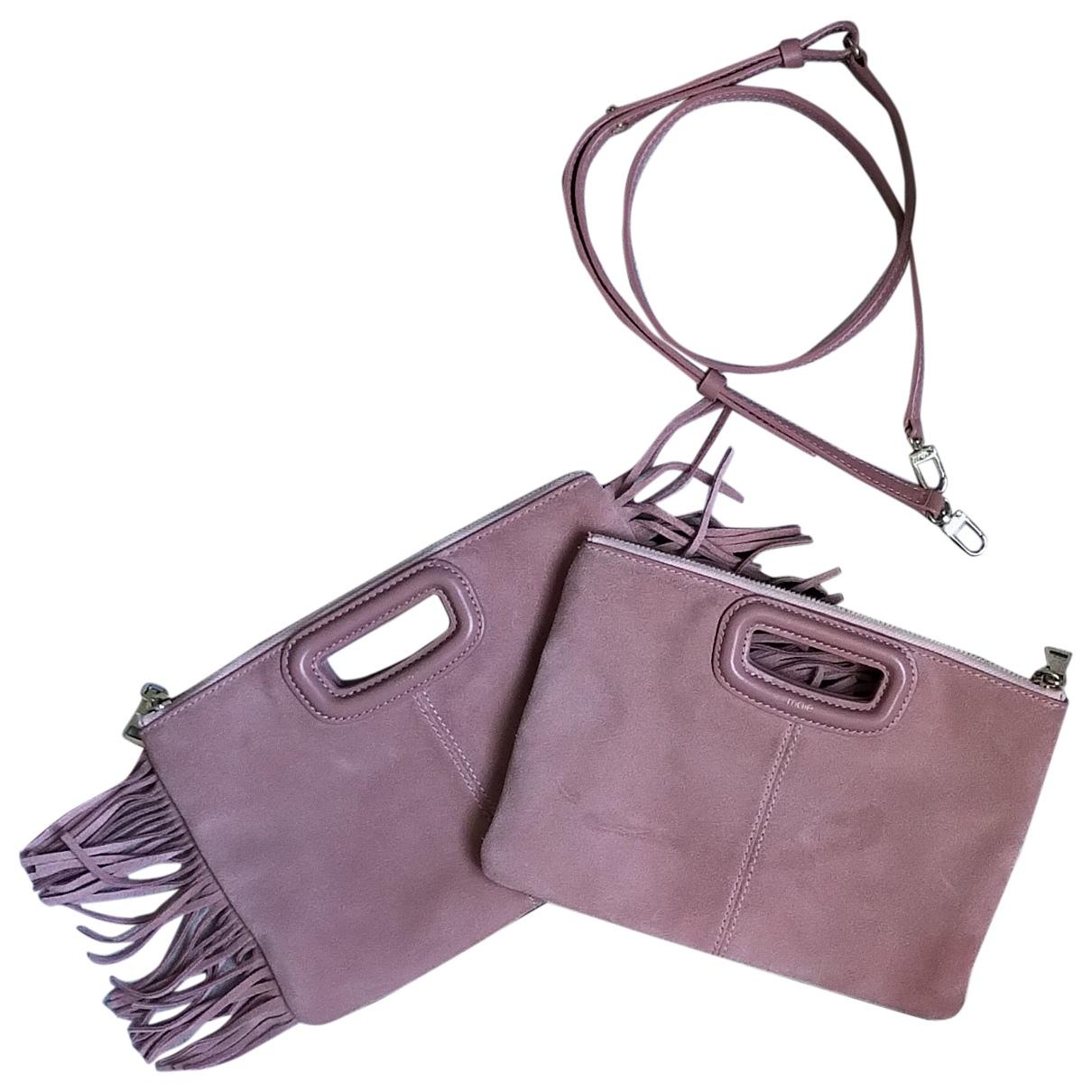 Maje \N Pink Suede handbag for Women \N