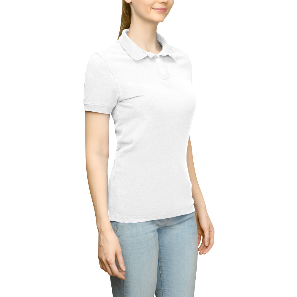 Page & Tuttle Solid Jersey Polo Golf Shirt White- Womens- Size S