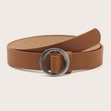 Solid PU Buckle Belt