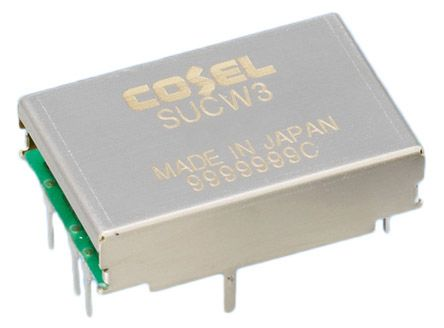 Cosel 3W Isolated DC-DC Converter Through Hole, Voltage in 18 → 36 V dc, Voltage out ±15V dc