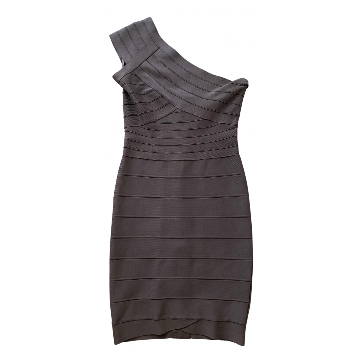 Herve Leger \N Kleid in  Grau Synthetik