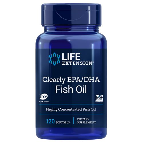 Clearly EPA/DHA Fish Oil 120 Softgels by Life Extension