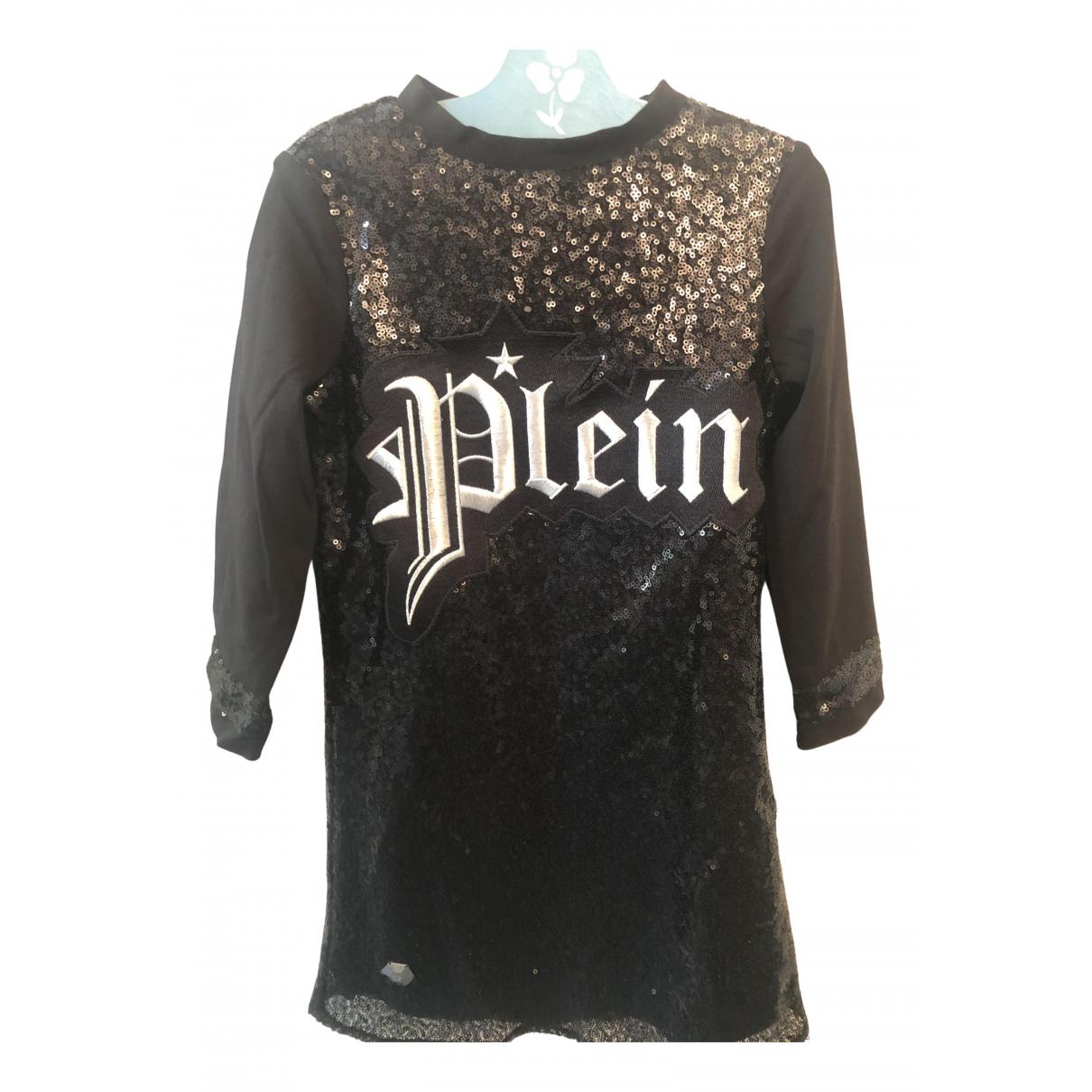 Philipp Plein N Black Glitter dress for Kids 6 years - up to 114cm FR