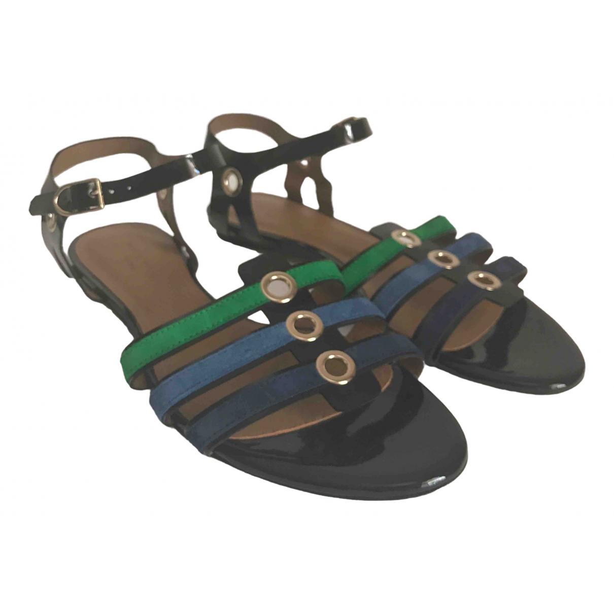 Sonia Rykiel \N Black Patent leather Sandals for Women 38 EU